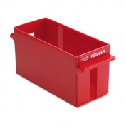 MMF 212070107 Extra Cap. Coin Tray for pennies Red