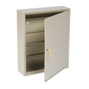 Uni-Tag Key Cabinet, 160-Key, Steel, Sand, 16 1/2 x 4 7/8 x 20 1/8