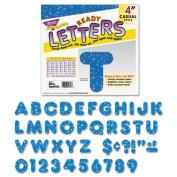 """Ready Letters Sparkles Letter Set, Silver Sparkle, 4""""h, 71/Set"""