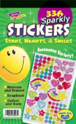 Sticker Assortment Pack, Sparkly Stars/Hearts & Smiles, 336/Pack