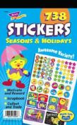 Sticker Assortment Pack, Seasons & Holidays, 738/Pack. Includes 738 stickers.