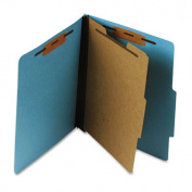 Pressboard Classification Folder, Letter, Four-Section, Sky Blue