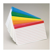 Color Coded Bar Ruled Index Cards, 4 x 6, Assorted Colors, 100/Pack
