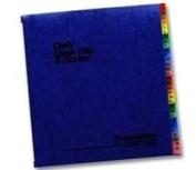 Expandable Desk File, 1-31 Index, Letter Size, Acrylic-Coated PressGuard, Blue