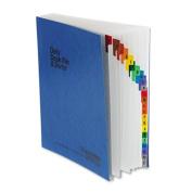 Expandable Desk File, A-Z Index, Letter Size, Acrylic-Coated PressGuard, Blue