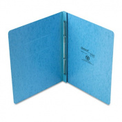 "PressGuard Report Cover, Prong Clip, Letter, 3"" Capacity, Light Blue"