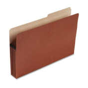 "File Pocket w/Tab, 3-1/2"" Expansion, Letter Size, Drop Front, Red"