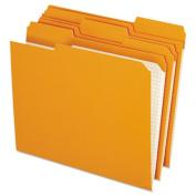 Reinforced Top Tab File Folders, 1/3 Cut, Letter, Orange, 100/Box