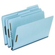 Two-Fastener Pressboard Expanding Folder with 1/3 Cut Tab, Legal, Blue, 25/Box