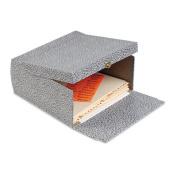 "5-1/4"" Capacity Box File Storage Box, Letter, Binder Board, Black/Orange"