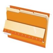 Interior File Folders, 1/3 Cut Top Tab, Letter, Orange, 100/Box