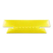 Pendaflex 4312YEL Hanging File Folder Tabs, 1/3 Tab, 8.9cm , Yellow Tab/White Insert, 25/Pack