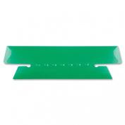 Hanging File Folder Tabs, 1/3 Tab, 3 1/2 Inch, Green Tab/White Insert, 25/Pack