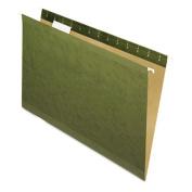 Reinforced Hanging Folders, 1/5 Tab, Legal, Standard Green, 25/Box