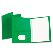 Esselte Pendaflex 57703 Paper Twin-Pocket Portfolio Tang Clip Letter 1/2 Capacity Green 25 per Box