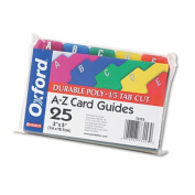 Oxford Card Guides Alpha .2 Tab Polypropylene 3 x 5