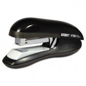 Rapid 76082 F30 Flat Clinch Half Strip Stapler, 30-Sheet Capacity, Black