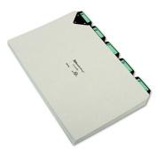 Steel Top Tab Recycled Guides, Alpha, 1/5 Tab, Pressboard, Legal, 25/Set