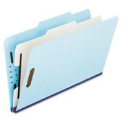 Esselte Pendaflex 930025RCP1 Pressboard Classification Folder with 2/5 Tab Lgl 4-Section BE 10/bx