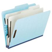 Esselte Pendaflex 930025RCP2 Pressboard Classification Folder with 2/5 Tab Lgl 6-Section BE 10/bx