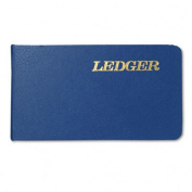 Six-Ring Ledger Binder, Blue Cover, 100 Pages, 5 1/2 x 8 1/2