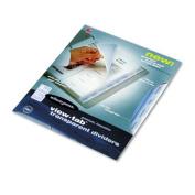 Acco-Wilson Jones WLJ55068 Transparent Dividers- Square- 8-Tab- 1 Set- Clear