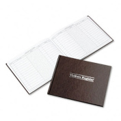 Visitor Register Book, Red Hardcover, 112 Pages, 8 1/2 x 11 1/2