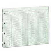 Accounting Sheets, Six Column, 9-1/4 x 11-7/8, 100 Loose Sheets/Pack, Green