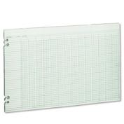 Accounting Sheets, 24 Columns, 11 x 17, 100 Loose Sheets/Pack, Green