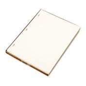 Looseleaf Minute Book Ledger Sheets, Ivory Linen, 14 x 8-1/2, 100 Sheet/Box