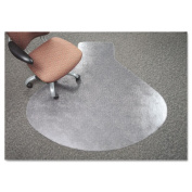 Deflect-O CM14003K SuperMat Vinyl Chair Mat for Firm Commercial Carpets Beveled 60 x 66 in. Clear