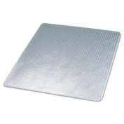 Deflect-O CM14243 SuperMat Studded Beveled Mat for Medium Pile Carpet 45w x 53h Clear