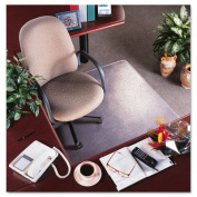 "deflect-o CM15113 RollaMat Vinyl Chair Mat for Med Pile Carpet- Beveled Edge- 36 x 48""- Clear"