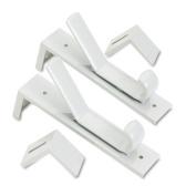 Partition Double Garment Hooks, 1 1/2 x 6 1/2, Gray, 2/Pack
