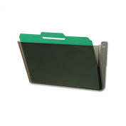 DocuPocket Stackable Wall Pocket, Plastic, Letter, 13 x 4 x 7, Smoke