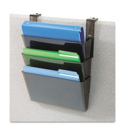 Deflecto 73502 Docupocket three-pocket file partition set w/brackets, letter, smoke