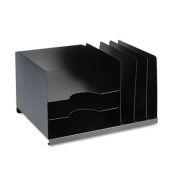Combination Horizontal/Vertical Steel File, Six Sections, 15 x 11 x 8 1/8, Black