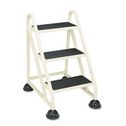 Cramer 1030-19 Stop-Step Three-Step Aluminum Ladder- 21-3/8w x 27-1/4d x 31-3/4- Beige