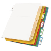 Cardinal Ring Binder Divider Pockets With Index Tabs, Letter, Assorted Colours, 5/Pack