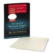100% Cotton Resume Paper, 32 lbs., 8-1/2 x 11, Ivory, Wove, 100/Box