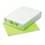 Kaleidoscope Multipurpose Colored Paper, 24lb, 8-1/2 x 11, Lime, 500/Ream