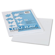 Tru-Ray Construction Paper, 76 lbs., 9 x 12, White, 50 Sheets/Pack