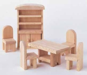 Plan Toys 9012 Wooden Toy Dining Room ? Classic