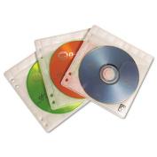 Two-Sided ProSleeve II CD/DVD Sleeves, 50/Pack