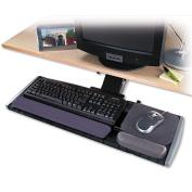 Underdesk Adjustable Keyboard Platform, 21-1/4 x 10, Gray