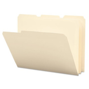 Tear/Moisture-Resist Poly File Folders, 1/3 Cut Top Tab, Letter, Manila, 12/Pack