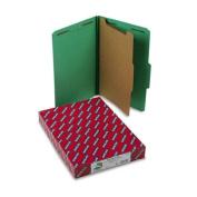 Pressboard Classification Folders, Legal, Four-Section, Green, 10/Box