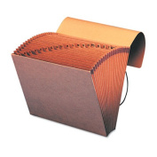 A-Z Indexed Accordion Expanding Files, 21 Pockets, Kraft, Letter, Brown