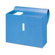 Antimicrobial Accordion Expanding File, 12 Pockets, Letter, Blue