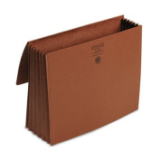 5 1/5 in Accordion Expansion Wallet, 11 3/4 x 9 1/2, Redrope